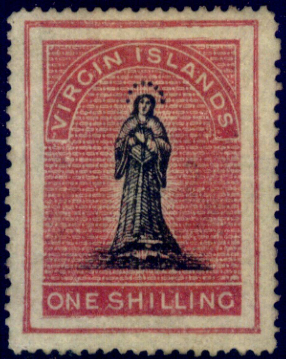 VIRGIN ISLANDS 1 SHILLING STAMP