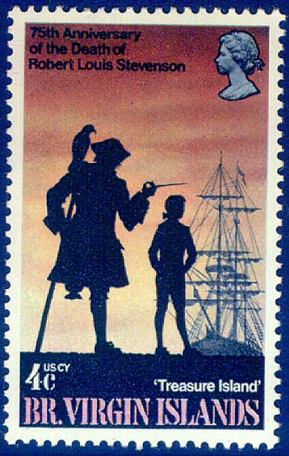VIRGIN ISLANDS TREASURE ISLAND STAMP
